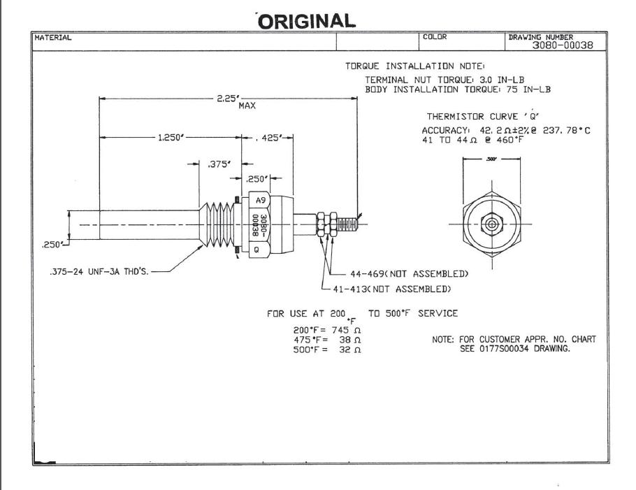 cylinder head temp gauge installation notes attachments