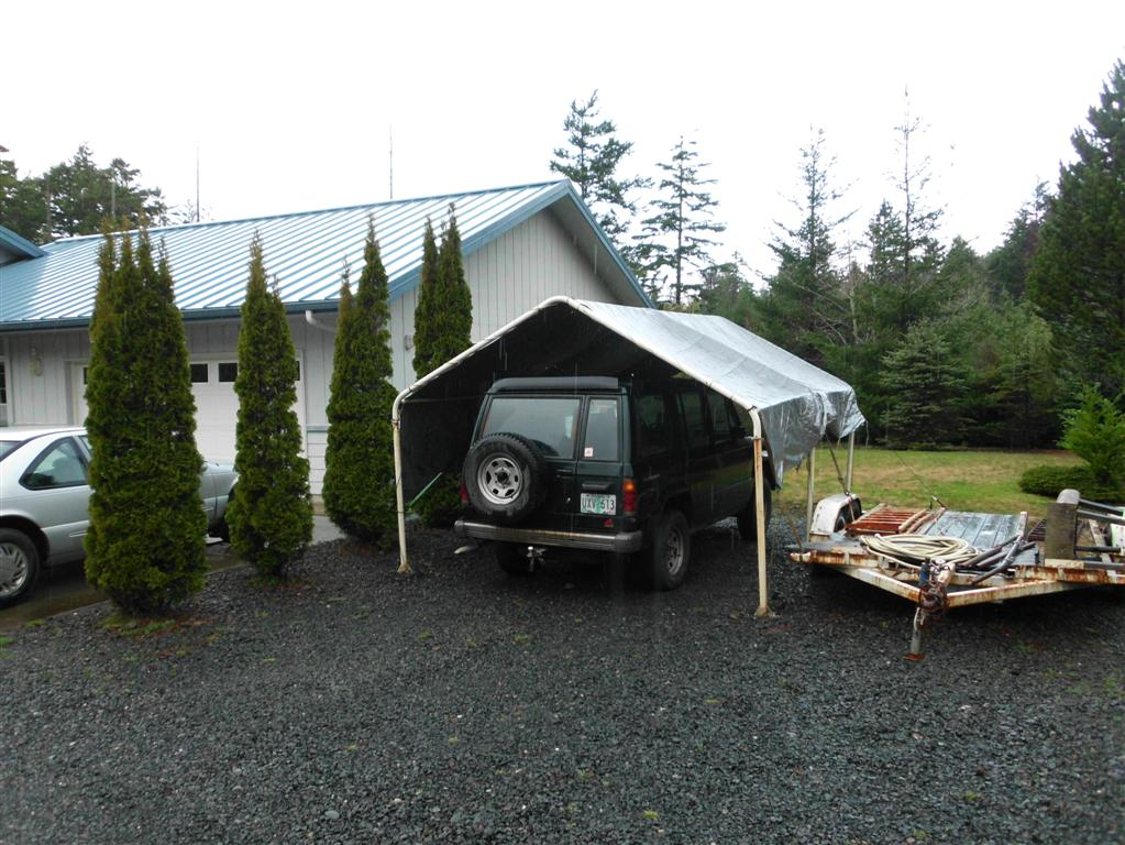 Temporary Snow Shelter For Cars : Ot temporary car shelter for marie s