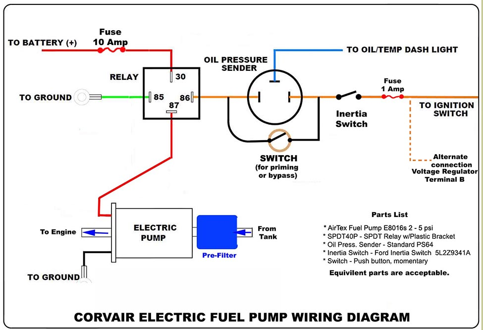 Electric    Fuel       Pump       Wiring       Diagram