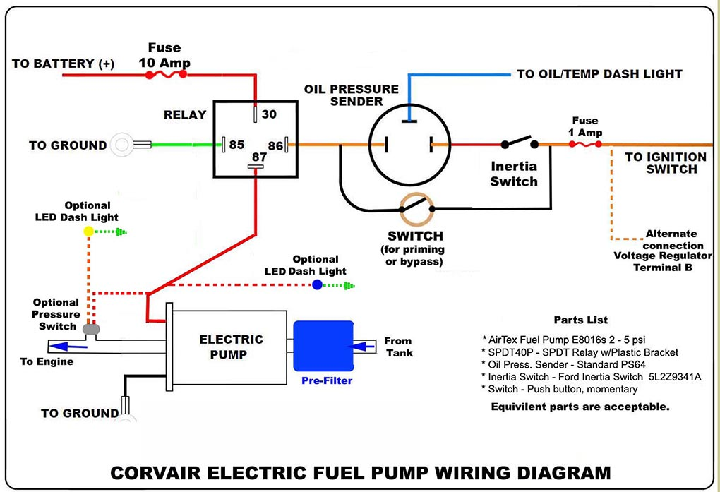 How To Electrical Wiring Diagrams : Electric fuel pump wiring diagram
