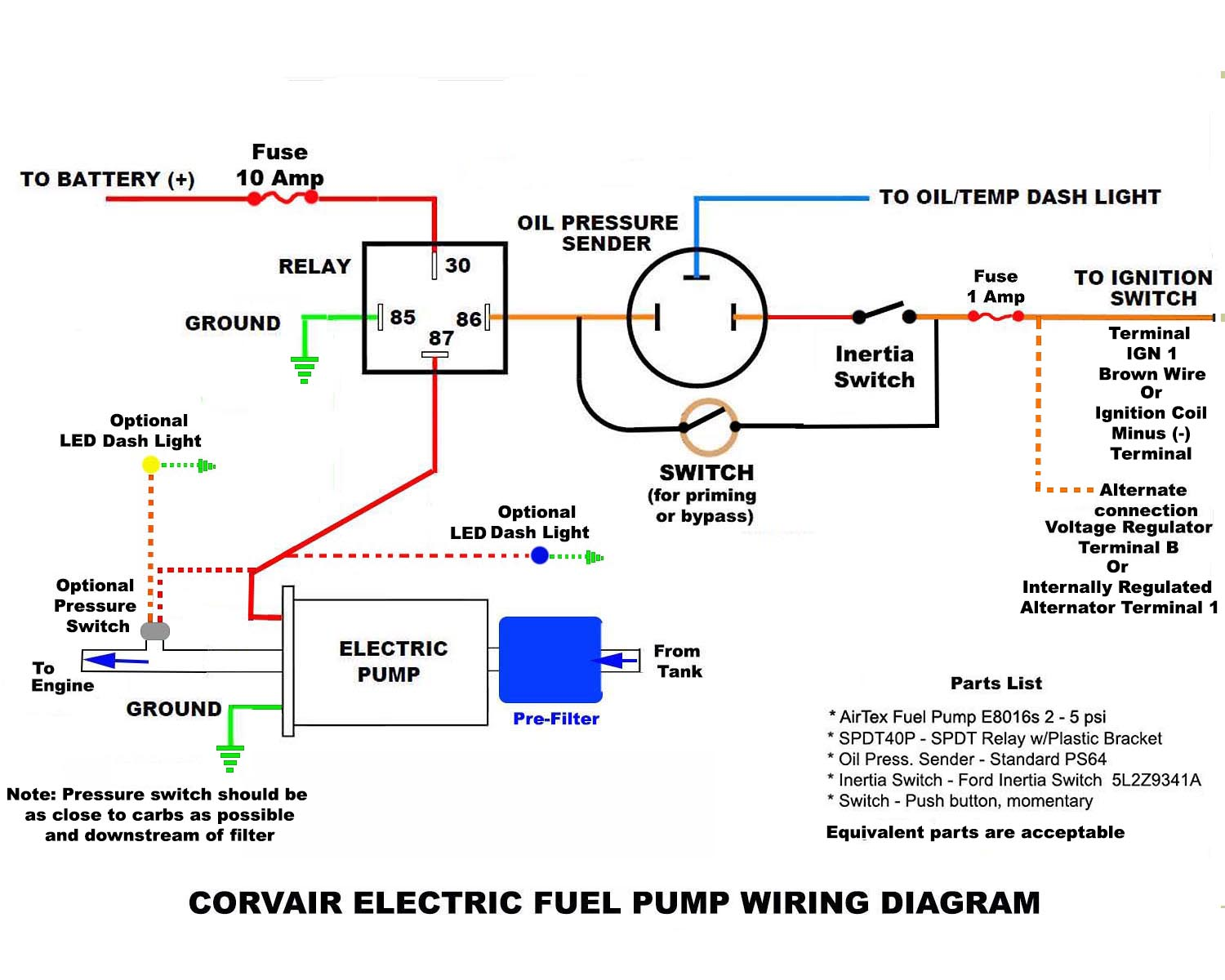 Attachments: Options: Reply•Quote. Re: Electric Fuel Pump Wiring Diagram