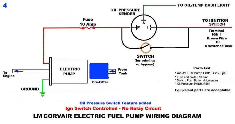 Electric Fuel Pump Circuits Without a Relay - Wiring Diagrams on