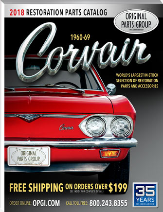 """Original Parts Group """"Corvair Catalog"""" coming soon."""