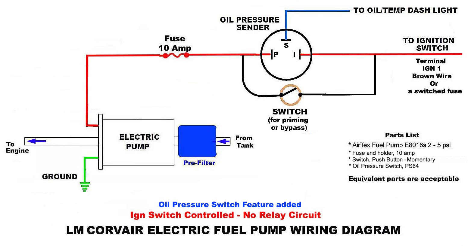 First Post Oil Pressure Safety Switch Question Airtex Fuel Pump Wiring Diagram Attachments