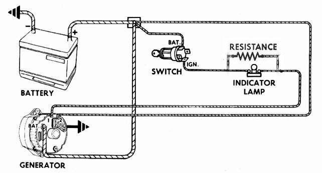 [DIAGRAM_3NM]  Battery draw/ Internally regulated Alternator install   Wiring Diagram Internal Regulator Alternator      Corvair Center