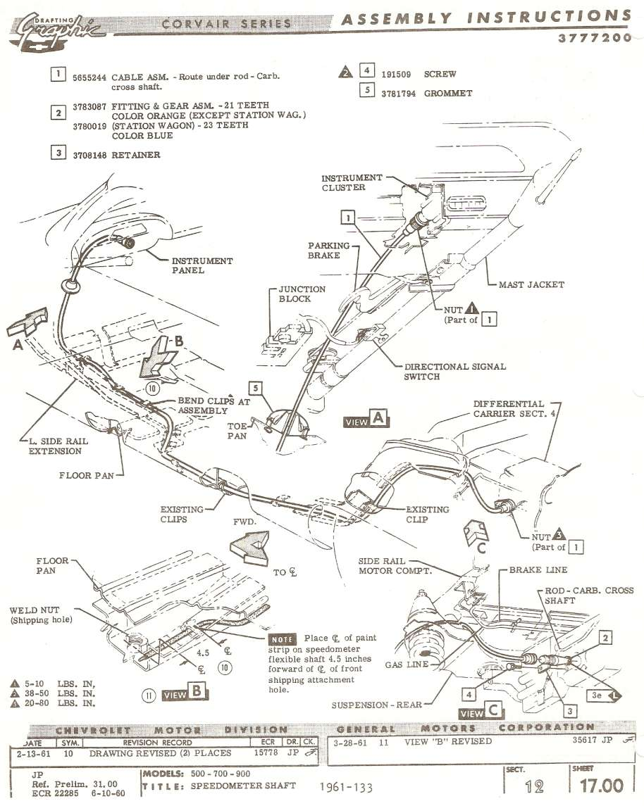 Em Speedo Cable Routing