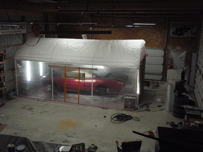 Your Personal Temporary Paint Booth Pics