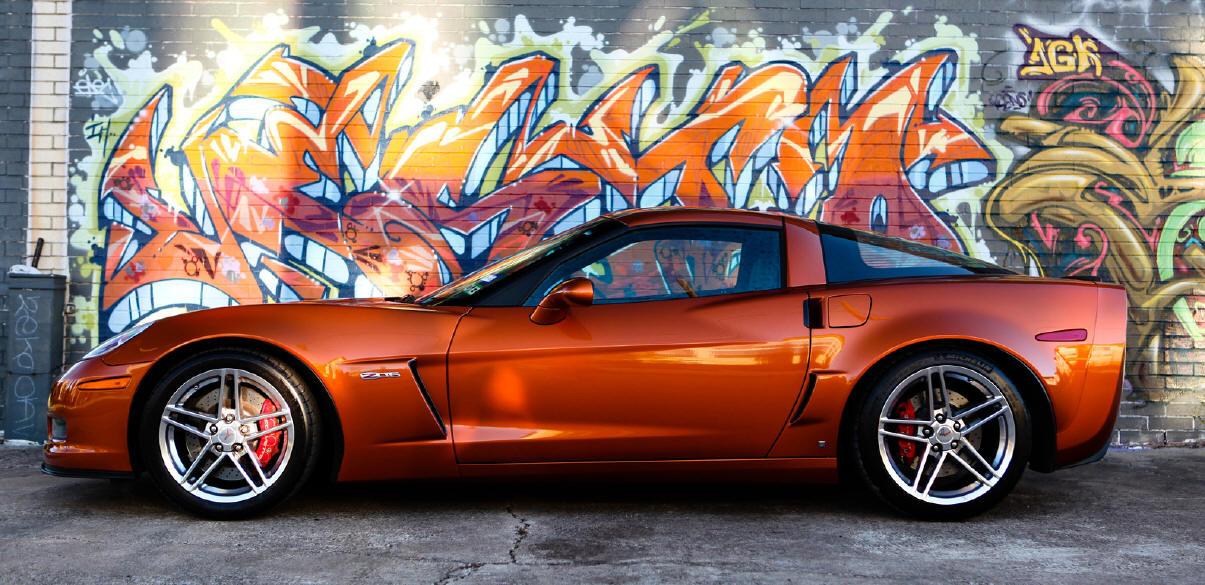 Build My Chevy Truck burnt orange car paint